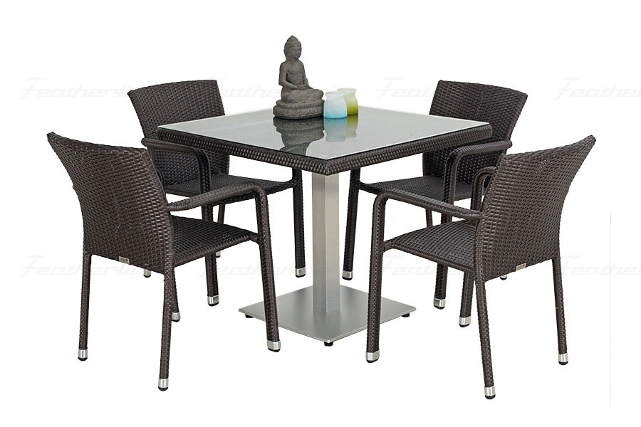 Outdoor dining sets online india premier furniture store for Modern dining chairs india